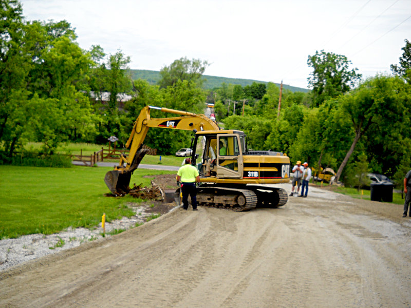 Site work and road work
